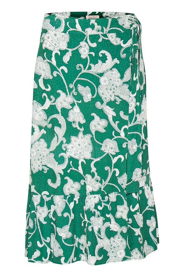 a2ea8efa1081 Artwork Dark Green Skirt fra Part Two – Køb Artwork Dark Green Skirt fra  str.